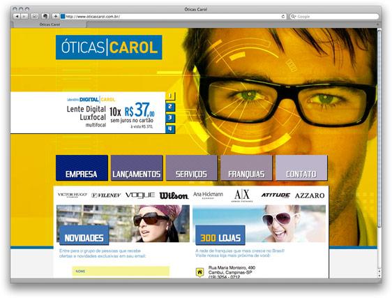 Site Oticas Carol Piracicaba 01ba811ec2